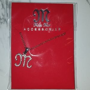 NEW M letter necklace